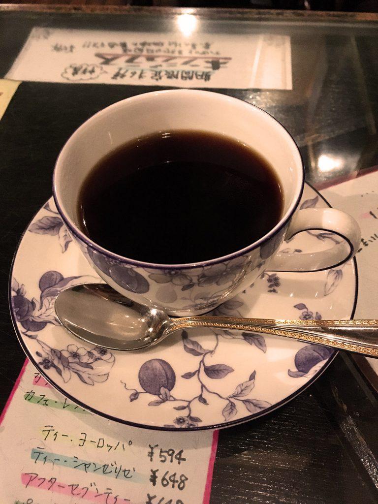 茶豆湯のマンデリンブレンド(597円) iPhoneで撮影